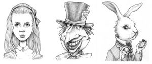 Alice in Wonderland caricatures